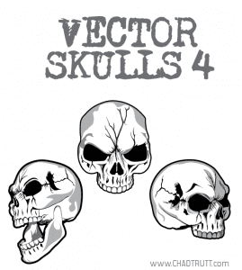 Cracked Skulls Vector