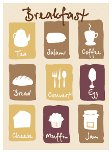 breakfast lovely icon vector