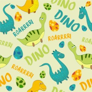 خلفيات فكتور ديناصور Dinosaur background multicolored repeating icons Free vector