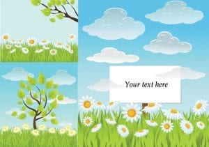 خلفيات فكتور صيف طازج Fresh summer vector background Free vector