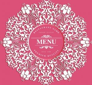 خلفيات فكتور منحنيات كلاسيكيه Menu cover background pink decor classical curves Free vector