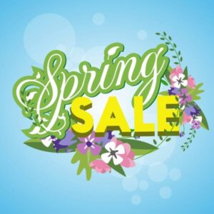 خلفيات فكتور تخفيضات الربيع Spring sale banner colorful bright flowers Free vector
