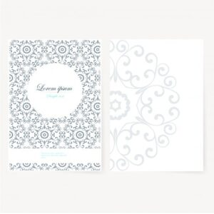 خلفيات فكتور ورق مزخرف  Decorative sheet of paper with oriental design Free Vector