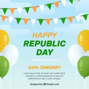خلفيات فكتور خلفيه مسطحه  Flat india republic day background Free Vector