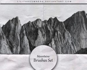 HD Mountains Photoshop Brushes