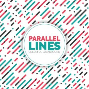 Parallel Diagonal Overlapping Color Lines Pattern Background Free Vector