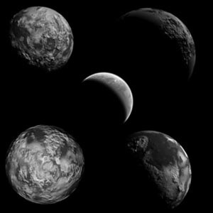 Free 5 planets brush Photoshop Brushes