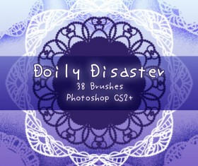 Doily Disaster Photoshop Brushes