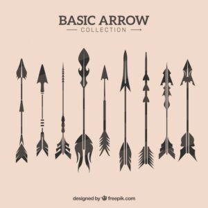 Vintage arrow collection Free Vector