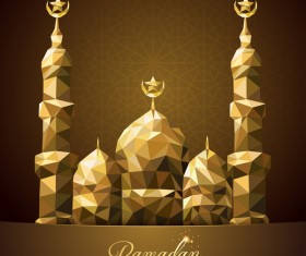 Ramadan Kareem greeting card background vectors