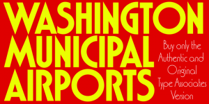 Washington font family