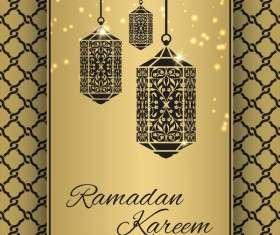 Ramadan Kareem ornate background vector