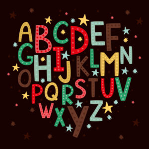 Alphabet for children Free Vector