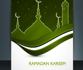 Ramadan Kareem flyer cover vector 04