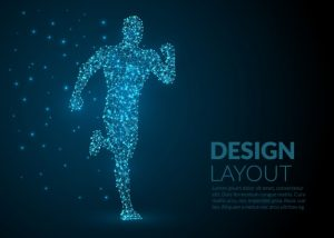 Abstract blue template for sports Free Vector
