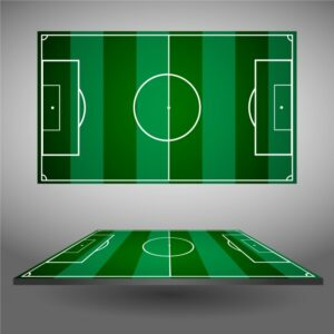 Football fields design Free Vector