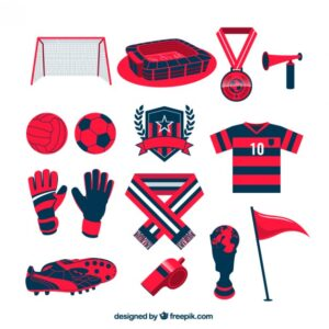Football team equipment Free Vector