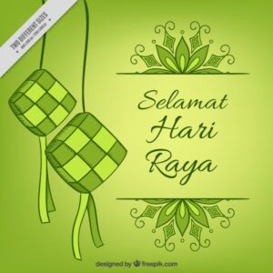 Nice background of eid al-adha in green tones Free Vector