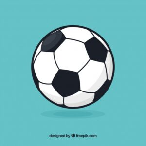 Soccer ball background in flat style Free Vector