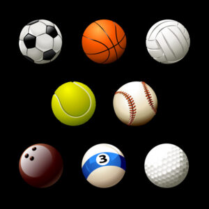 Sport balls collection Free Vector