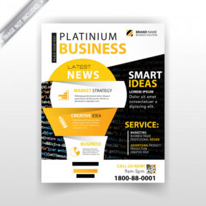 Marketing magazine template Free Vector