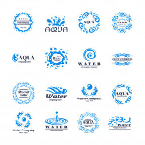 Water logo set Free Vector