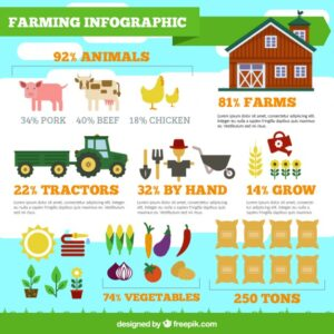 Farming infographic Free Vector