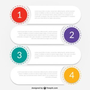 Infographic template for business Free Vector