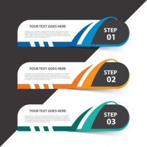 Infographic template with steps Free Vector