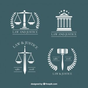 Law logotype set Free Vector