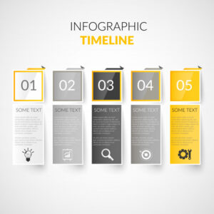 Paper timeline infographics Free Vector