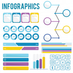 Set Collection of Infographics Free Vector