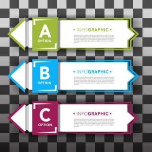 Set of infographic banners Free Vector