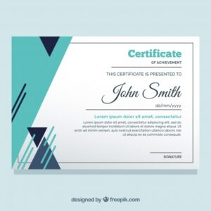 Certificate template in flat style Free Vector
