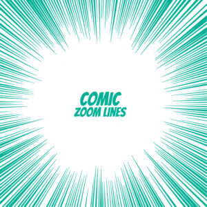 Comic speed zoom lines background Free Vector