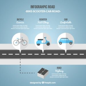 Infographic road in blue tones Free Vector