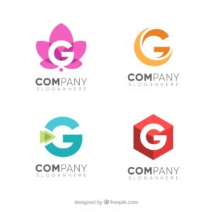 Pack of letter g logos Free Vector