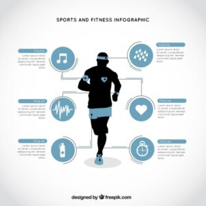 Sporty runner infography Free Vector