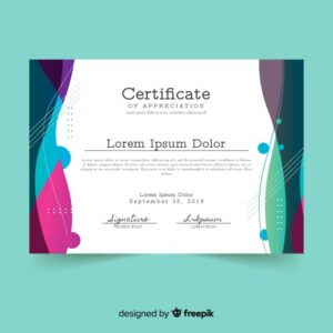 Certificate template in modern style Free Vector