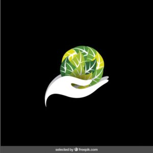 Logo protect the environment Free Vector