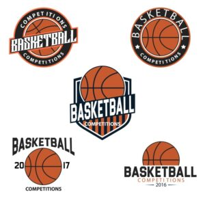 Basketball logo templates Free Vector