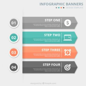 Infographic banners template Free Vector