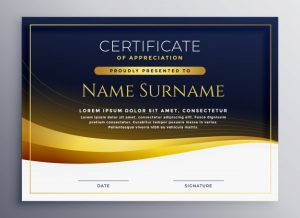 Professional certificate of appreciation template Free Vector
