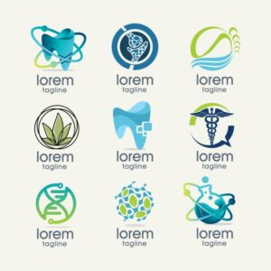 Science logo templates collection Free Vector