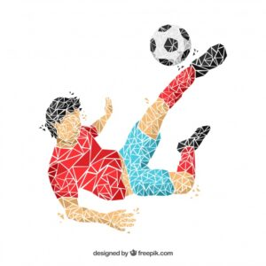 Soccer player background in abstract style Free Vector