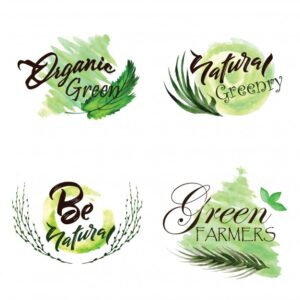 Watercolor Green Leaves Logo Collection Free Vector