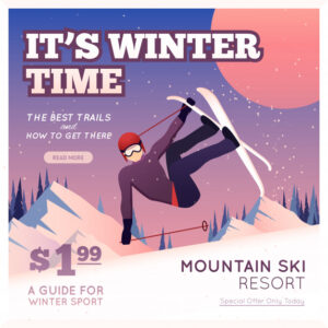 Winter Sport Poster Free Vector