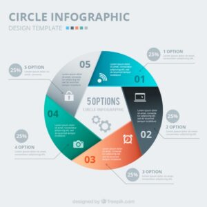 Abstract circle infographic Free Vector