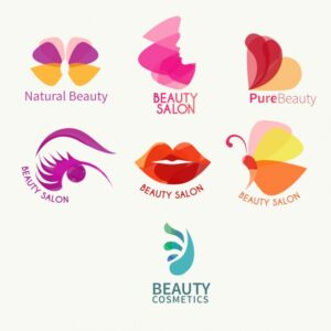 Beauty logo collection Free Vector