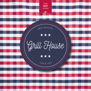 Grill House Logo design Free Vector